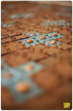 SIGN OF THE TURTLE | #blue patina and #light patina on hammered #copper | detail | #tapestry #metalart #art #artwork #contemporaryart #sculptureart  #artforsale #availableart