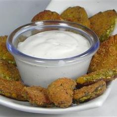 Super Easy and Spicy Fried Pickles- made these tonight for a late night snack :). Yummy and easy!