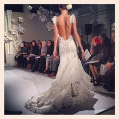 We think the dresses at the Pnina Tornai show win the award for lowest cut backs!