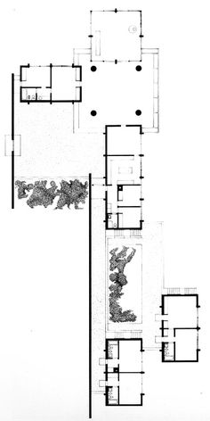 Philip Johnson, Eric Boissonnas House II, Plan, Cap Benat, France