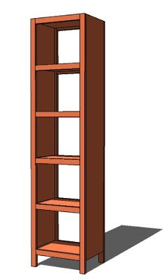 Ana White   Build a 5 Cube Tower Bookshelf   Free and Easy DIY Project and Furniture Plans