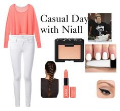 """Casual Day with Niall"" by jazzybarrera on Polyvore featuring Victoria's Secret, Frame Denim, LORAC and NARS Cosmetics"
