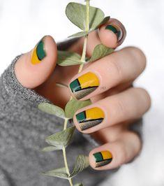 Color Block Nail Art