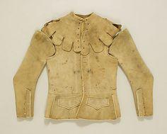 Jacket 17thc., British, Made of leather