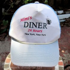 Vintage Mimis Diner New York NY Mesh Snapback Hat Cap Manhattan City NYC   Unbranded  TruckerHat 55966a7b6060