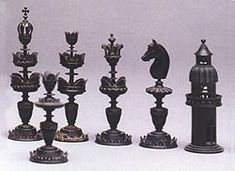 an ornate Selenus chess set