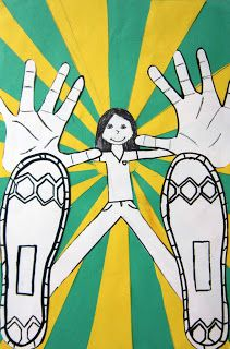 Fifth grade students learned about the concept of foreshortening through this fun drawing activity. Foreshortening is the optical illusion...