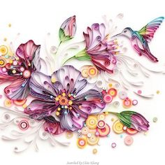 Quilling © Yulia Brodskaya (Searched by Châu Khang) Quilling Letters, Paper Quilling Flowers, Quilling Work, Origami And Quilling, Paper Quilling Patterns, Quilled Paper Art, Quilling Paper Craft, Origami Paper, Paper Crafts