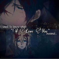 Anime: Violet Evergarden// I still have to start on this anime but I've been so busy lately 😣 Sad Anime Quotes, Manga Quotes, Sad Quotes, Inspirational Quotes, Violet Evergarden Wallpaper, Manga Anime, Anime Art, Violet Evergreen, I Love You Means