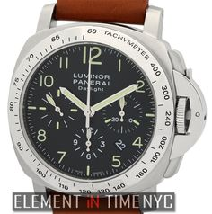 Officine Panerai Luminor Daylight Chronograph 44mm iN Stainless Steel With A Black Arabic Dial Circa 2005 (PAM 196)