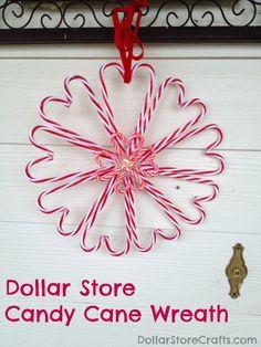 Tutorial: Candy Cane Heart Wreath