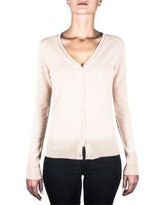 Damen Kaschmir Strickjacke Cardigan V-Ausschnitt washed ecru front Elegant, Tops, Sweaters, Fashion, Jackets, Cast On Knitting, Classy, Moda, Chic