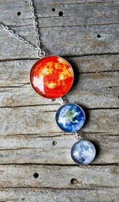 A great piece to remind you of how big and beautiful our universe is !  Galaxy Necklace by jerseymaids | Hatch.co