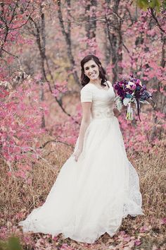 Modest wedding dress by Alta Moda Bridal.   from Augusta Jones on bride from VA.    image by Alixann Loosle