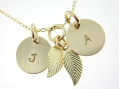 Initials Necklace (minus the leaf charm)