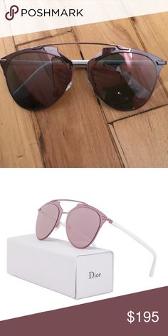 f8318daa81b6 Christian Dior Reflected Sunglasses Designed by. Christian Dior 100% UV  protection Logo at temples