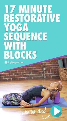 17-Minute Restorative Sequence With Yoga Blocks yoga #yogavinyasa