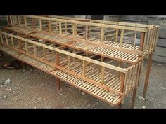 kandang ayam petelur 01 - YouTube Diy Chicken Coop Plans, Portable Chicken Coop, Building A Chicken Coop, Quail Coop, Duck Coop, Poultry Cage, Poultry House, Rabbit Farm, Rabbit Cages