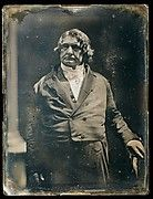 Daguerreotypy, the first photographic process, spread around the world after its inventor Louis Daguerre (1787-1851) presented it to the public in 1839.  Exposed in a camera obscura and developed in mercury vapors, each highly polished silvered-copper plate is a unique photograph that exhibits extraordinary detail and three-dimensionality when viewed in proper light