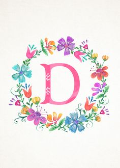 M Floral Wreath Monograms (The Cottage Market) Monogram Wreath, Monogram Letters, Letters And Numbers, Monogram Wallpaper, Alphabet Wallpaper, Floral Letters, Letter Art, Flower Frame, Cute Wallpapers