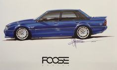 Holden VK Brock Commodore SS drawn by Foose