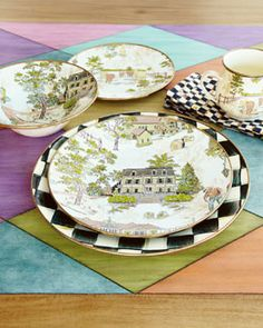 """Mackenzie-Childs """"Aurora"""" dinnerware"""