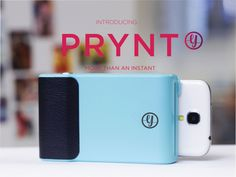 PRYNT - Plug in your phone, snap a picture, and get a printed photo in seconds. Then watch your photos come to life through augmented reality!