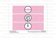 Printable DIY Eloise at the Plaza Theme Personalized Happy Birthday Water Bottle Labels. $5.00, via Etsy.