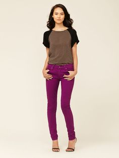 Obsessed with color denim right now! Twiggy Legging Jean by James Jeans on Gilt.com