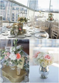 White Haute Photography. Tres Chic Affairs. Splendid Sentiments Florals. San Diego. Library. Wedding. Blush. Cream. Garden Roses. Lace. Bridesmaids. Gown. wedding photos. bridal party. downtown. suitcases. table setting. APR fine linen rental. laser cut table names. Nic Roc Designs.