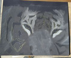 Tiger in progress. Artist Tracey Everington of Tracey Lee Art Designs www.traceyleeartdesigns.com