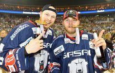 Jimmy Sharrow und Mads Christensen - beide wechselten 2010 zu den Eisbären
