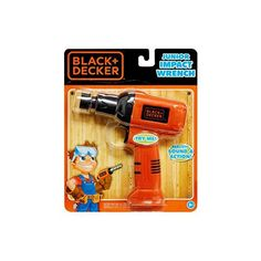 Black  Decker Jr Electronic Tool Junior Impact Wrench Realistic Light Sound  Action * Click on the image for additional details.Note:It is affiliate link to Amazon.