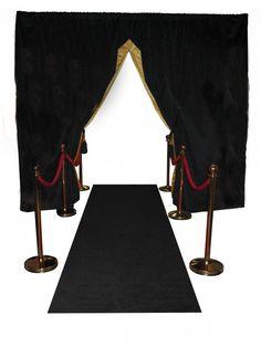 Black & Gold Draped Entrance