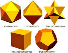 Les 5 solides de Platon