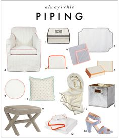 Always Chic: Contrast Piping