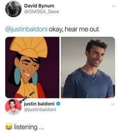okay, hear me out & justin baldoni & © listening – popular memes on the site iFunny. Stupid Funny Memes, Funny Relatable Memes, Haha Funny, Funny Cute, Funny Posts, Funny Stuff, Silly Jokes, Mtv, Justin Baldoni