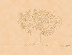 Continuous Line Drawing Tree