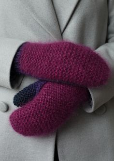 Lawina. Very soft and gentle handmade mittens. Yarn: angora, silk, kid mohair, wool. https://www.facebook.com/lawinaknit/