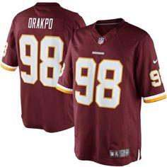 Brian Orakpo Washington Redskins Nike Team Color Limited Jersey - Burgundy - $44.99
