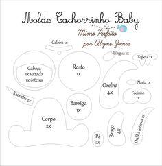 Moldes para Feltro: Baby bichinhos
