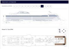 Milano, 23 dicembre 2015 - E' online sulle pagine del sito web ufficiale di MSC Crociere il piano nave di MSC Meraviglia, prima unitàdi classe