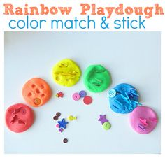 Rainbow Playdough Color Sorting - No Time For Flash Cards Toddler Fun, Toddler Crafts, Crafts For Kids, Preschool Colors, Teaching Colors, Sorting Activities, Color Activities, Activity Toys, Rainy Day Activities For Kids