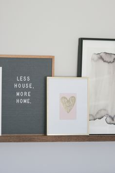 Need some art for your walls or picture ledge? Find a cute greeting card, pop it into a frame, and you have easy instant art! #art #wallart #pictureledge #budgetart #pictureframes #diyplaybook