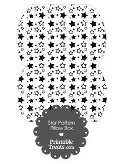 Large Black Star Pattern Pillow Box from PrintableTreats.com