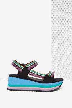 Jeffrey Campbell Whiplash Neoprene Sandal - Flats | Jeffrey Campbell | Platforms