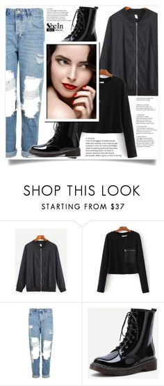 """""""Shein 6"""" by aida-banjic ❤ liked on Polyvore featuring Topshop, WithChic and shein"""