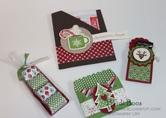 Set of treat holders from Heidi Boos, one for hot cocoa packet, others for chocolates!