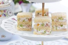 Baby shower food for girl sandwiches afternoon tea Ideas Party Finger Sandwiches, Tea Sandwiches, Tea Party Sandwiches Recipes, Tea Recipes, Snack Recipes, Party Recipes, Party Snacks, Holiday Recipes, Gourmet