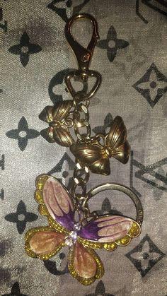 Liz Claiborne Butterfly Handbag Charms & Keychain  #LizClaiborne